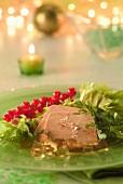 Foie Gras mit roten Johannisbeeren zum Fest