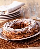 Paris Brest cream cake