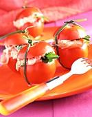 Tomatoes stuffed with salmon