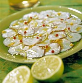 Scallop Carpaccio with lime and red pepper