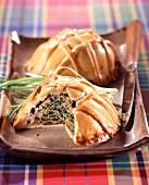Individual Creole crust patés