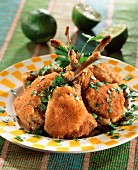 Creole-style breaded lamb chops