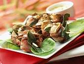 Scallop and bacon brochettes