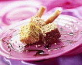 Vanilla and praline iced cubes