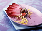 Red chicory and fig salad