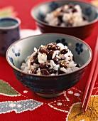 Reissalat mit Azuki-Bohnen