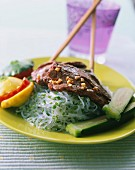 Beef sauteed with chinese noodles