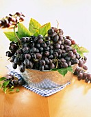 Bunches of Muscat grapes