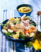 Marseilles cod and poached vegetable Aïoli