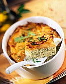 sweet patato,ricotta and herb baked gratin