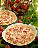 Strawberry and pistachio bake