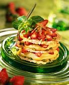 Strawberry cracknel biscuit