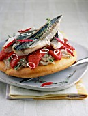 Mackerel pizza