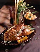 Roast duck with physalis