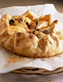 Pear and raisin flaky pastry tart