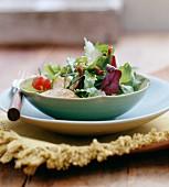 Chicken and parmesan salad