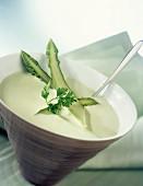 Cream of green asparagus