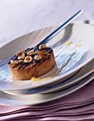 Nutella,hazelnut and orange marmelade tartlet