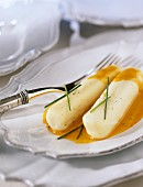 Chicken Quenelles with pike sauce
