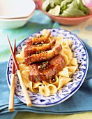 Duck fillet with honey and spice sauce