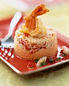 Crab timbale