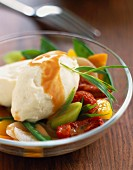 Quenelles with vegetables
