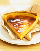 Slice of egg custard tart