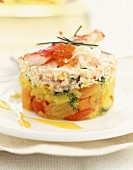 Crab and vegetable timable