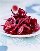 Beetroot, red onion and radish salad