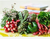 Arrangement of early vegetables