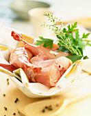 Raw rabbit meat