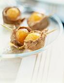 Appetizer: Ente mit Melonenbällchen