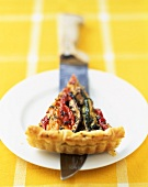 Summer vegetables and emmental flaky pastry tart