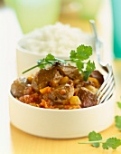 Spicy beef and onion stew