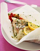 Cod and vegetable papillote