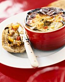 Grilled vegetable flan