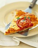 Tomato,mozzarella and basil tart