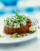 Scallop and confit tomato Tartare