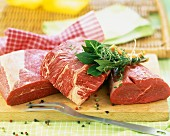 Cut of raw beef