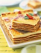 Lasagne al forno (Nudelauflauf mit Fleisch- und Bechamelsauce, Italien)