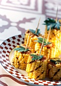 Grilled corn-on-the-cob with espelette pepper