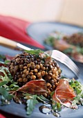 Lentil and Jabugo ham salad