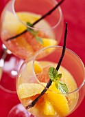 Grapefruit salad with orange, vanilla and vodka