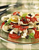 Courgette carpaccio with feta cheese