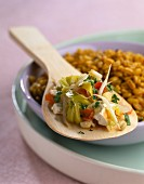 Soya Massala with cardamom grains