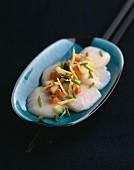Scallop sashimis