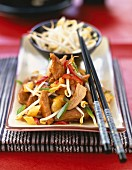 Sauteed pork with vegetables