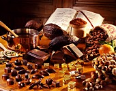 Selection of chocolate products