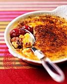 crème brûlée with morello cherries