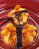 Orange and kumquat spicy fruit salad